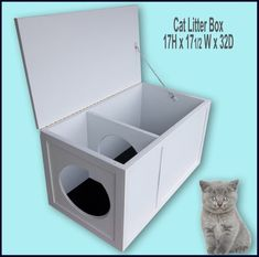Cat Litter Box Ideas Hidden Discover Cat Litter Box with the opening on the left. Cat Litter Box with the opening on the left. Hiding Cat Litter Box, Litter Pan, Grand Chat, Cat Toilet Training, Potty Training, Cat Care Tips, Owning A Cat, Cat Behavior, Pet Furniture
