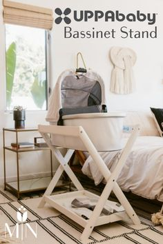 The Uppababy Bassinet Stand pairs perfectly with any 2015-Later Vista stroller bassinets!