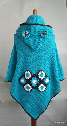Crochet Poncho, Poncho Sweater, Babies, Sweaters, Ponchos, Babys, Pullover, Baby, Sweater