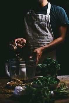 fenugreek, mint and pea shoot pesto