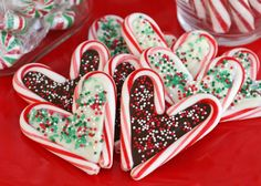 Edible Candy Cane Christmas Art