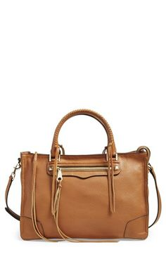 Free shipping and returns on Rebecca Minkoff 'Regan' Satchel at Nordstrom.com. Signature studs and dangling tassels underscore the street-chic attitude of a spacious, structured satchel furnished with a whipstitched carry handle and optional, adjustable crossbody strap to add styling versatility.