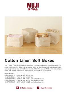 Cotton Linen Soft Boxes