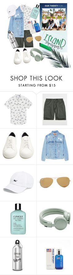 """""""you're my island"""" by kanares ❤ liked on Polyvore featuring Calibrate, KR3W, Givenchy, MANGO MAN, Vineyard Vines, Ray-Ban, Clinique, Urbanears, Ralph Lauren and men's fashion"""