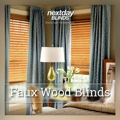 Faux Wood! For baths, kitchens and playrooms- Wood Essence Blinds are the right choice.   http://www.nextdayblinds.com/products/blinds/wood