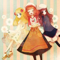 Tags: Anime, Cake, Candle, Pechika