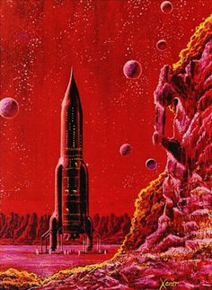 The Futuristic Age of Retro Sci-Fi Ufo, Psychedelic Space, Arte Sci Fi, 70s Sci Fi Art, Spaceship Art, Classic Sci Fi, Sci Fi Books, Comic Books, Science Fiction Art