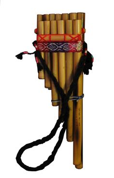 Pan Pipes ~ The pipes are one of the oldest made instruments dating back to 30,000 years ago, these were typically made from bamboo or giant cane. The pan flute is named for its association with the rustic Greek god Pan. Another term for the pan flute is syrinx,
