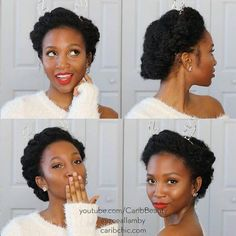 #naturalhairrocks. Imagine this as a wedding style with tiara rather than a Christmas like hair do
