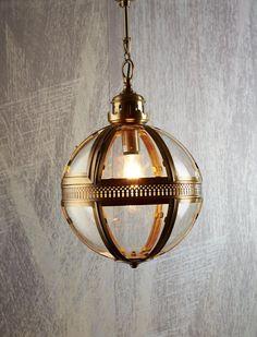 Saxon Pendant Lamp in Brass
