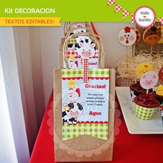 Granja niños: decoración de fiesta para imprimir - Todo Bonito Party Animals, Farm Animal Party, Cow Birthday Parties, 1st Boy Birthday, Farm Party Decorations, Noahs Ark Party, Farm Theme, Baby Party, First Birthdays