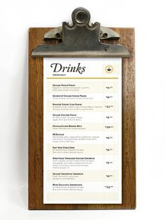 This industrial timber board looks super retro and sleek For a similar style head to.. http://www.fcmsales.com.au/menu-boards/timber