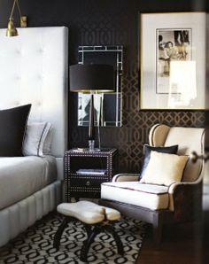 #black #bedroom #patterns