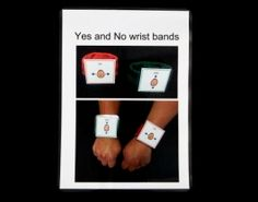 yes/no wrist bands - can be worn by user or partner.  Can be used by touching, raising hand or even just eye gaze.