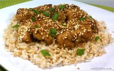 Emily Bites - Weight Watchers Friendly Recipes: Ginger Sesame Chicken