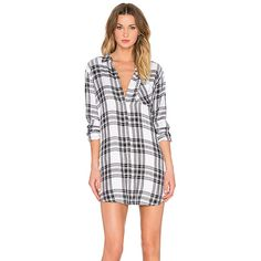 Rails Sawyer Button Down Dress Dresses (8,540 MKD) ❤ liked on Polyvore featuring dresses, white dress, white button up dress, button front dress, button dress and button up dress