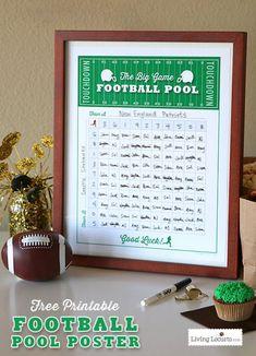 Free Printable Football Squares Poster