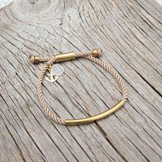 Nautical waterproof brass bracelet, the Banyan bracelet,  by Maris Sal, $18.00