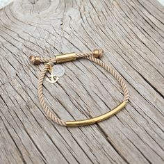 Nautical waterproof brass bracelet, the Banyan bracelet,  by Maris Sal, $18.00