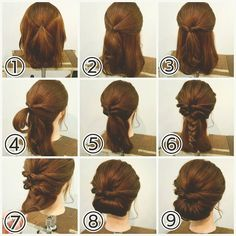 Prom Hairstyles For Short Hair, Homecoming Hairstyles, Casual Hairstyles, Diy Hairstyles, Wedding Hairstyles, Medium Hair Cuts, Medium Hair Styles, Curly Hair Styles, Hairdo Wedding