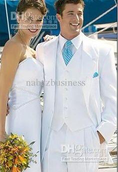 Wholesale Groom Tuxedos - Buy New Arrival White Groom Tuxedos Notch Lapel  Groomsmen Men Wedding Suits 2f76935543