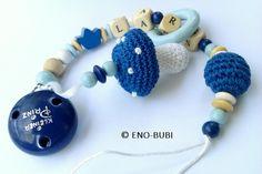 Schnullerketten - Schnullerkette mit Pilz blau ! - ein Designerstück von ENO-BUBI bei DaWanda