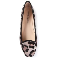 Anna Baiguera 'Annelaure' leopard print ballerinas (740 ILS) ❤ liked on Polyvore featuring shoes, flats, sapatos, zapatos, brown, ballet shoes, brown shoes, brown ballet flats, leopard print shoes and round toe flats