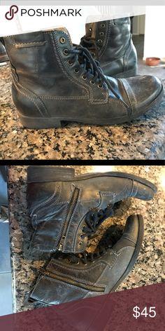 686cffa1ff1 Steve Madden Mens Boots Stylish distress look combat boots! Very  comfortable! Steve Madden Shoes