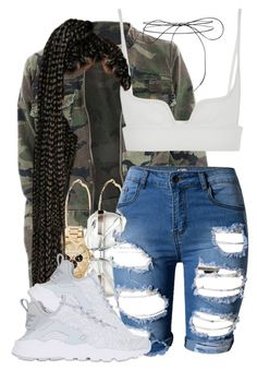 """Dirty"" by tyrionnak ❤ liked on Polyvore featuring MICHAEL Michael Kors, Vera Wang, River Island, NIKE and Lilou"