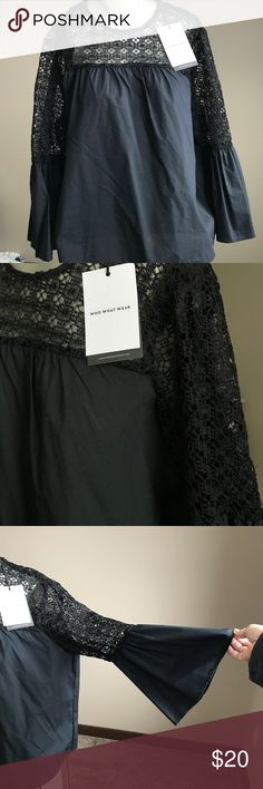 NWT Target Who What Wear Lace Boho Top SZ XXL New With Tags Target Who What Wear - Black Boho Top. Size XXL. Lace detail and super cute! Who What Wear by Target Tops