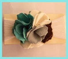 Hair Flips: Fun, Felt Hair Clips: felt flowers