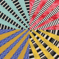 "Ferris Wheel Quilt Pattern, Fan Quilt, Fun Scrap Quilt, pdf, Instant Download  You will love creating these festive fan blocks ""by eye"" without the fuss of paper piecing or fabric foundations. This is the fun way to make a fan quilt! Once you get the hang of it youll be adding fans to all kinds of quilt projects. Includes ideas for variations, see Photo #3.  Clear directions, step-by-step photos and helpful hints. Ten pages. View on your computer, print, or save for later. Instant download…"