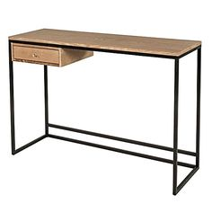 Chic, industrial looks meet quality craftsmanship in the Angelo Office Desk from Living by Design.