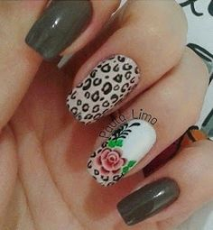 Flávia Késia: Unhas com dupla decoração Nails, Beauty, Nailed It, Work Nails, Finger Nails, Ongles, Beauty Illustration, Nail, Nail Manicure