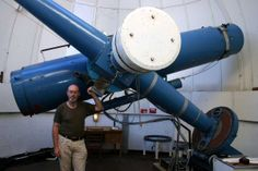Rob McNaught, discoverer of C/2013 A1 (Siding Spring), at the Uppsala Telescope, at Siding Spring observatory. Currently the telescope is closed and the discoverer retired. (Courtesy iTelescope.net)