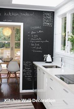New Kitchen Wall Decoration Modern Kitchen Wall Decor, Kitchen Wall Design, Wall Decor Design, Kitchen Wall Art, Diy Kitchen, Kitchen Ideas, Country Kitchen, Small Galley Kitchens, Galley Kitchen Remodel