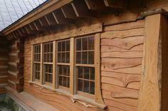 vinyl log cabin siding pros and cons of vinyl siding vs wood siding log house exterior Log Home Kits, Log Cabin Kits, Cabin Plans, House Plans, Cabin Ideas, Log Cabin Siding, House Siding, Log Cabin Homes, Wood Cabins