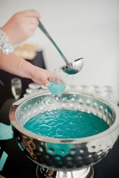 Tiffanys Inspired Bridal Shower from Vicki Bartel  Read more - http://www.stylemepretty.com/canada-weddings/ontario/windsor-ontario/2013/09/30/tiffanys-inspired-bridal-shower-from-vicki-bartel/