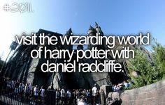 i dont think its possible with daniel radcliff, but oh well i dont mind riding solo!