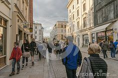 Grodzka Street in the old part of Krakow city in Poland. Europe. Street whith…
