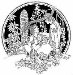 Radha Krishna Art by Ravi paranjape Krishna Painting, Madhubani Painting, Krishna Art, Baby Krishna, Radhe Krishna, Mural Painting, Fabric Painting, Art Forms Of India, Indian Illustration