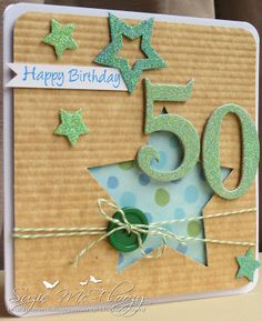 Fab 50 card....by Suzie McFloozy's Musings