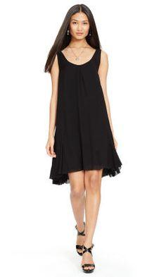 Crinkled Silk Chiffon Dress - Polo Ralph Lauren Short Dresses - RalphLauren.com
