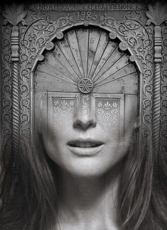 JULIANNE-DOOR,  ANTONIO MORA (aka mylovt) ~ a Spanish artist who combines with talent portraits photographed in various landscapes.