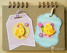We love these easter tags made by Angi at Cokie Pop Paper Boutique! 7 Days of Easter Projects Hop - Day 1