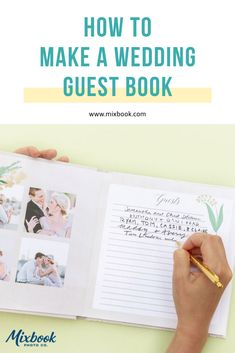 How to Make a Wedding Guest Book. Learn how easy it is to use your engagement photos to create a custom wedding guest book.
