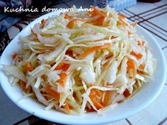 Kuchnia domowa Ani: Chińska surówka z kapusty Coleslaw, Superfoods, Salad Recipes, Cabbage, Food And Drink, Cooking Recipes, Dinner, Vegetables, Ethnic Recipes