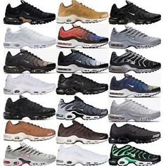 NIKE AIR MAX PLUS. Tuned Air® technology in the heel of. Nike shoes size chart Max Air units in the forefoot and heel give lightweight comfort. Tn Nike, Nike Air Max Tn, Nike Air Max Plus, Sneakers Looks, Best Sneakers, Sneakers Fashion, Nike Air Shoes, Nike Shoes Outlet, Interview Outfit Men