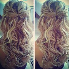 Simple, but cute style for long hair