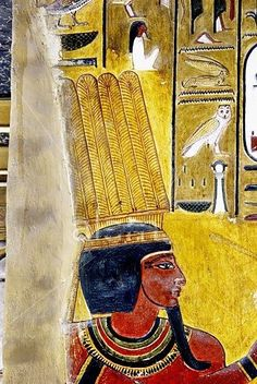 Mural paintings in the Tomb of Seti I. Valley of the Kings, Luxor West Bank. Egypt LX